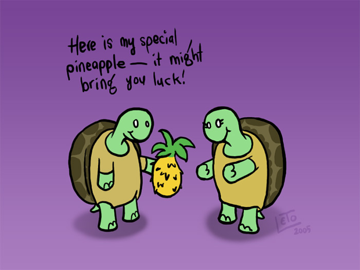 Turtle's lucky pineapple